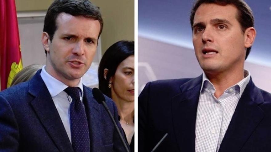 """Casado dice a Rivera que la opción para echar a Sánchez es agrupar el voto antes de las elecciones y llega """"tarde"""""""