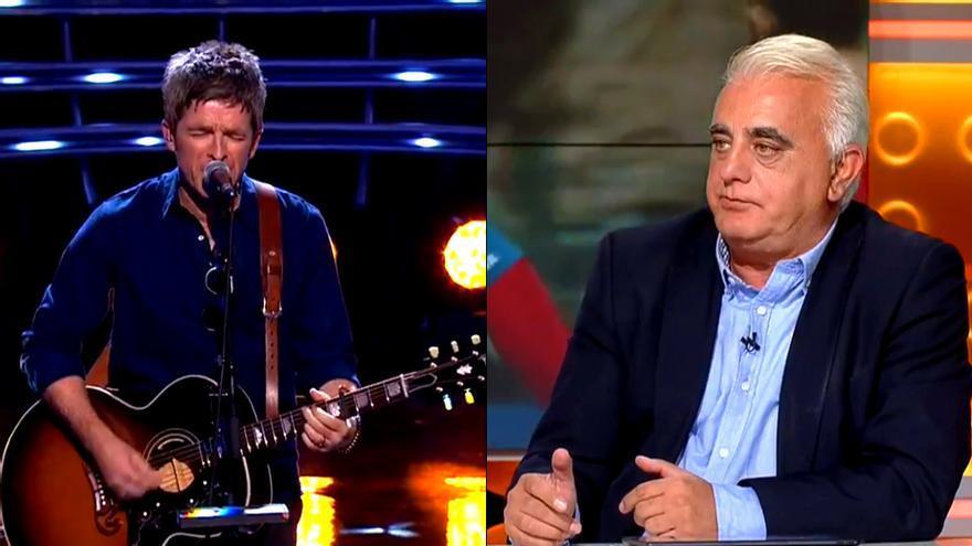 Críticas a un comentarista de Teledeporte por menospreciar a Noel Gallagher en la gala The Best