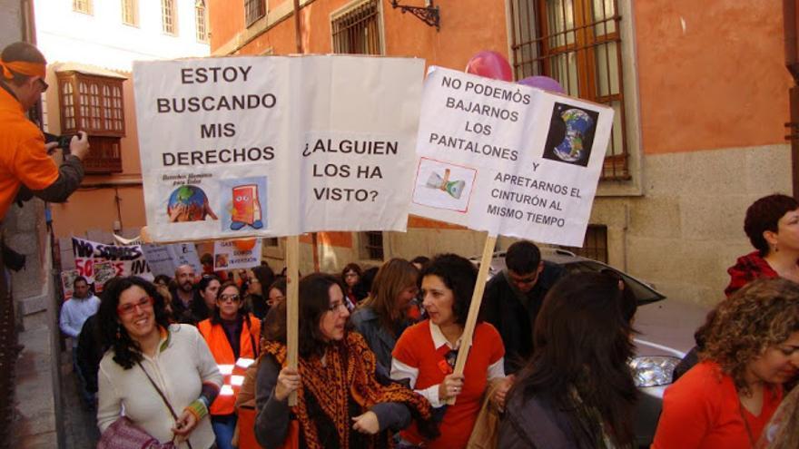 Manifestación por los servicios sociales en Toledo, archivo.