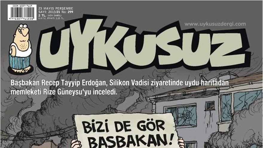 """Uykusuz: Erdogan busca su pueblo en Google Maps durante su visita a Silicon Valley (que coincidió con la matanza de Reyhanli)/ """"¡Mire aquí también!"""""""