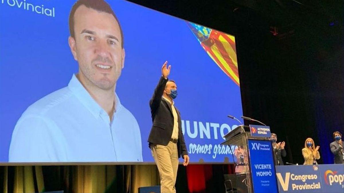 Vicente Mompó en el congreso provincial del PP del que salió vencedor.