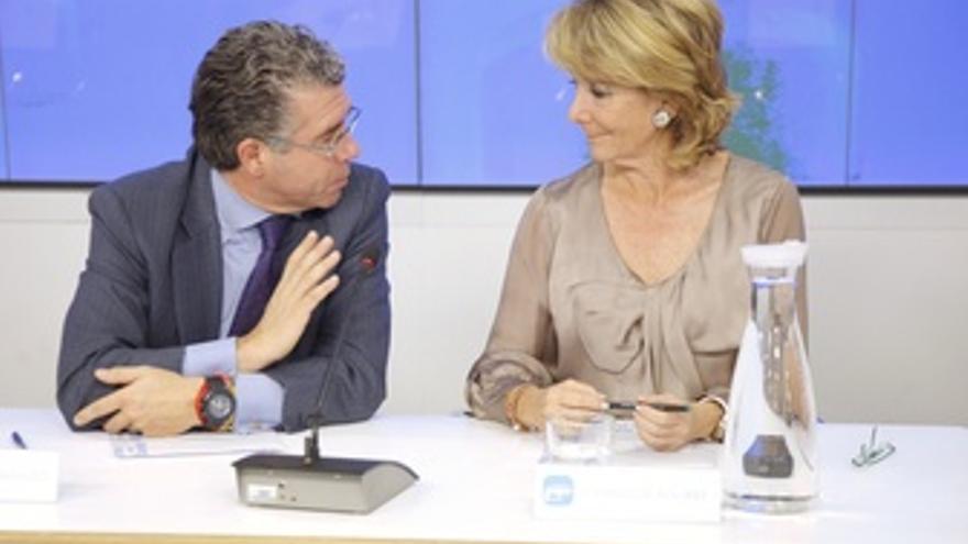 Granados Y Aguirre En La Reunión Del Comité Ejecutivo Regional Del PP De Madrid