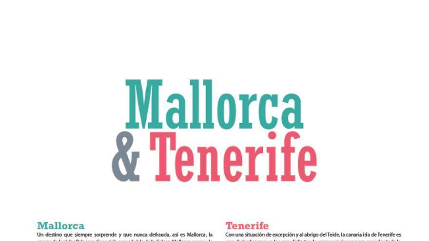 Imagen de la Calle Real de Teror en una publicidad sobre Tenerife en la revista de la cadena hotelera Piñero.