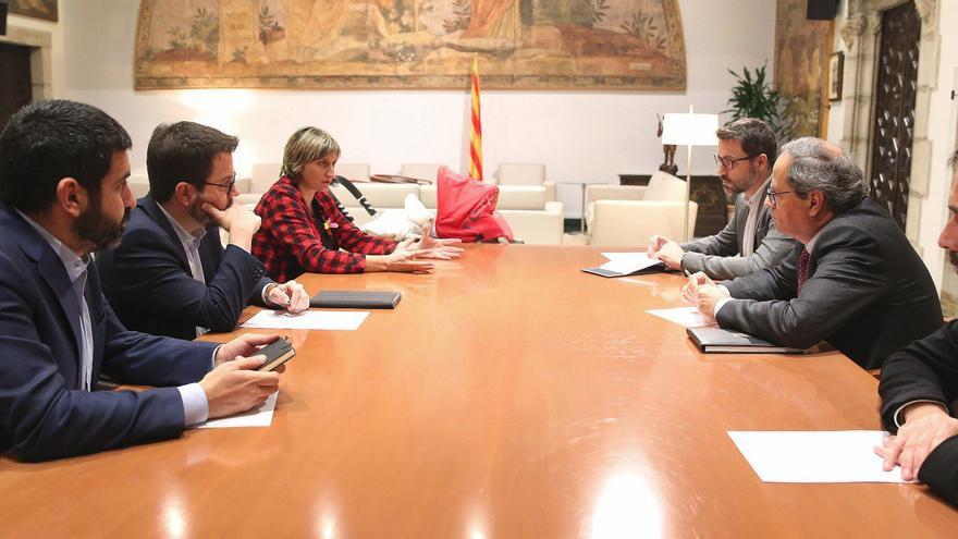 El president de la Generalitat se reúne con el vicepresident y los consellers de Salut y Treball