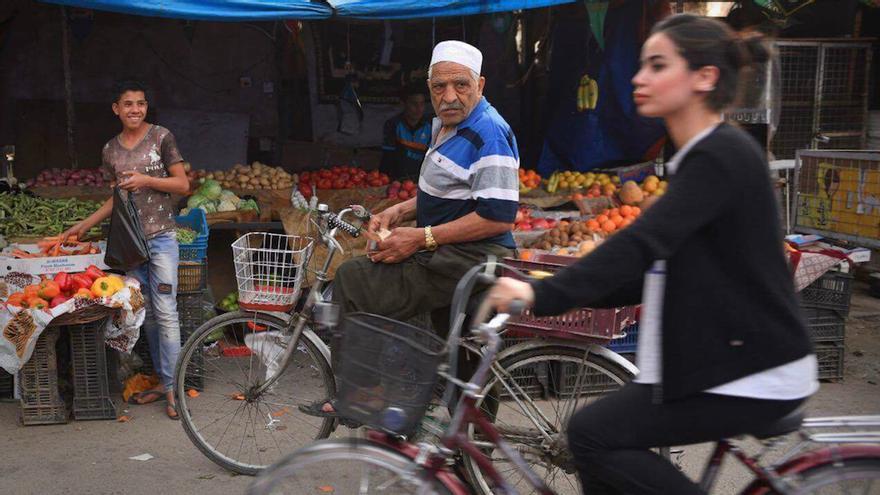 Marina Jaber tuvo que enfrentarse a sus miedos y a las miradas de reprobación   Imagen: Ayman Al Amir