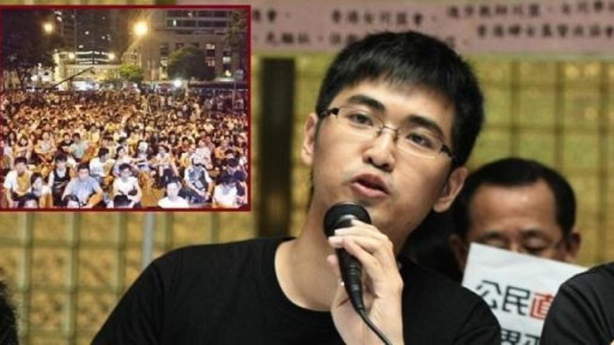 Alex Chow durante la conferencia on line que impartió a principio de curso en la Facultad de Comunicación desde Hong Kong