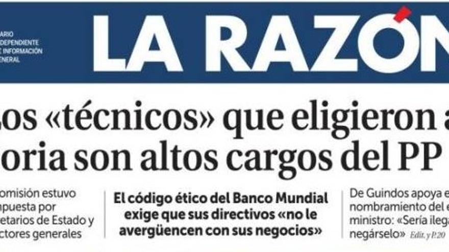 La Razón insiste sobre Soria