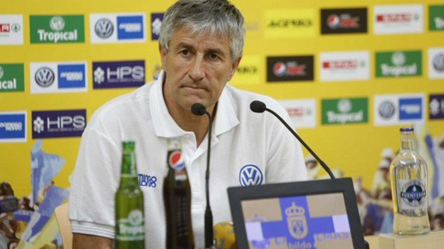 El entrenador de la UD Las Palmas, Quique Setién.
