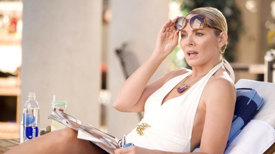 Kim Cattrall como Samantha Jones en 'Sexo en NY'