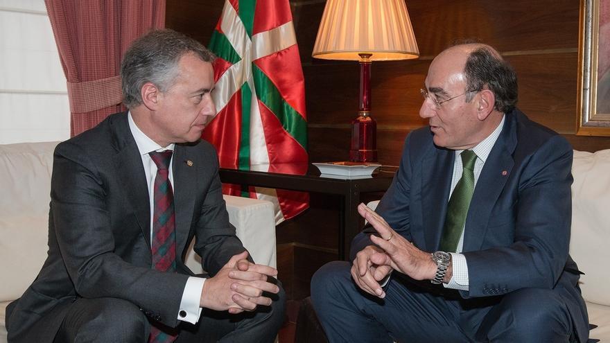 """Ignacio Galán se reúne con el lehendakari y le ratifica el """"compromiso"""" de Iberdrola con Euskadi"""