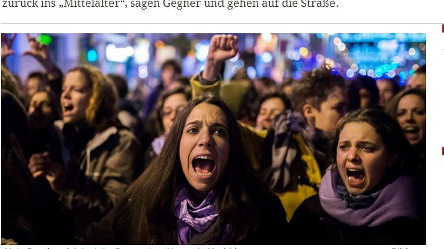 Las protestas contra la reforma de la ley del aborto en la prensa alemana.