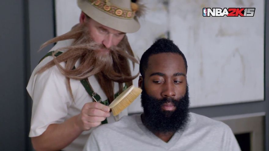 NBA 2K15 el gurú de la barba