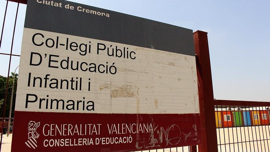 El colegio Ciutat de Cremona de Alaquàs, instalado en barracones desde hace años