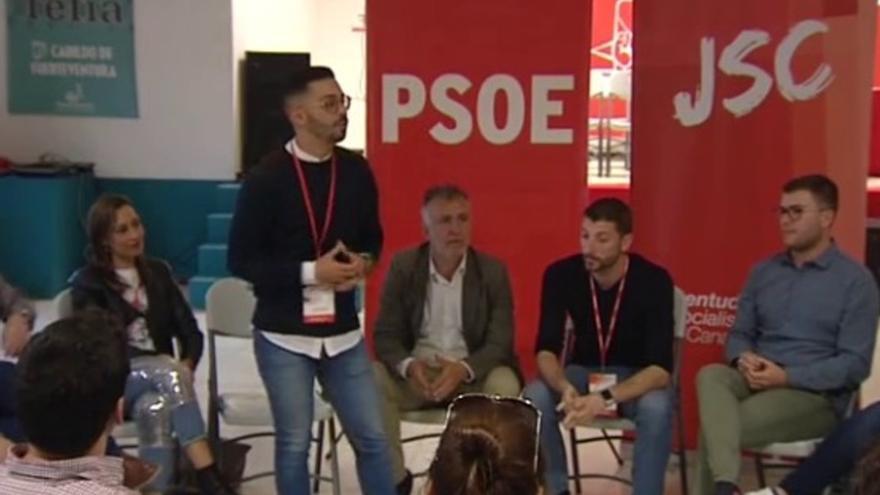 Miembros de las Juventudes Socialistas de Canarias.