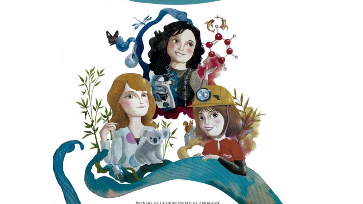 Ilustración de portada del libro '10001 amigas ingenieras' hecha por Sonia Sanz Escudero