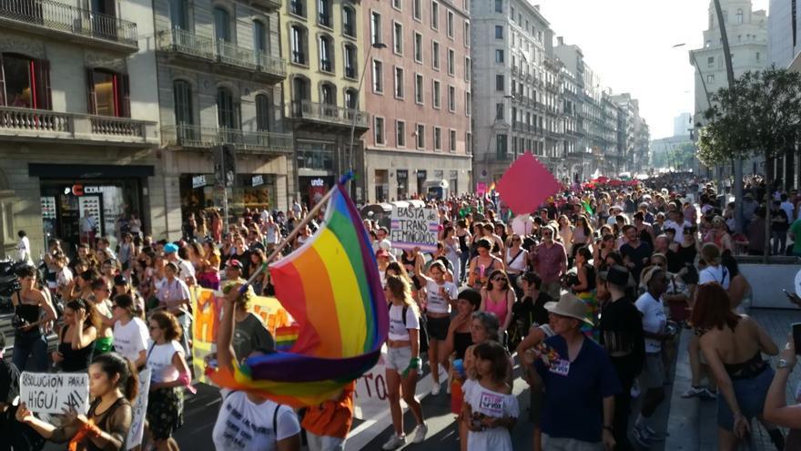 La marcha ha transcurrido por la calle Pelai y la Rambla