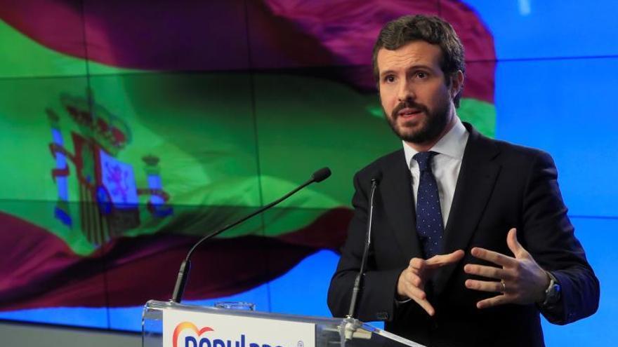 """Casado anuncia medidas para aclarar por qué la Abogacía del Estado ha realizado un informe favorable a las """"tesis"""" de ERC."""