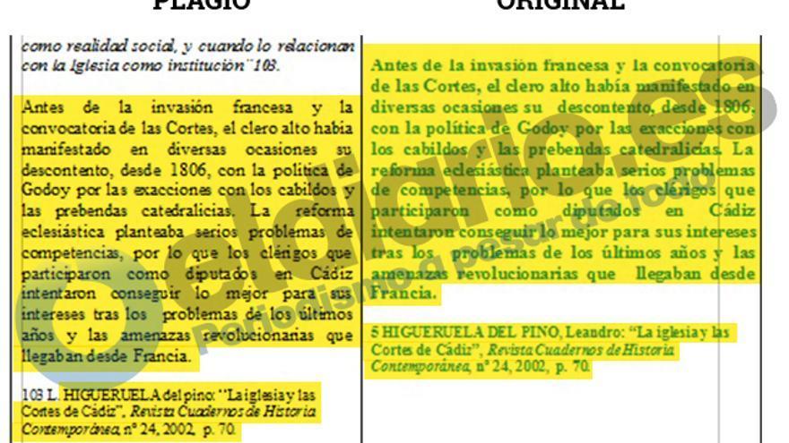 Fernando Suárez copia a Higueruela pero si lo cita su fuente, copia la cita.