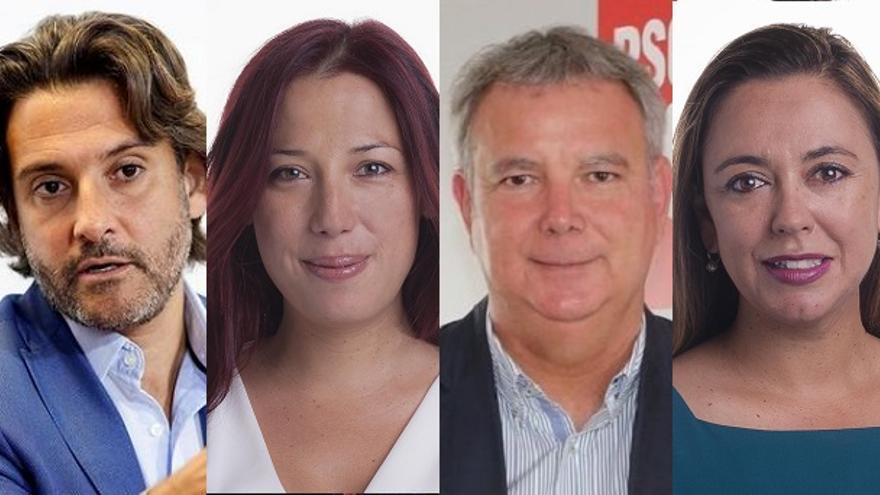 Gustavo Matos, Patricia Hernández, Sebastián Franquis y Dolores Corujo