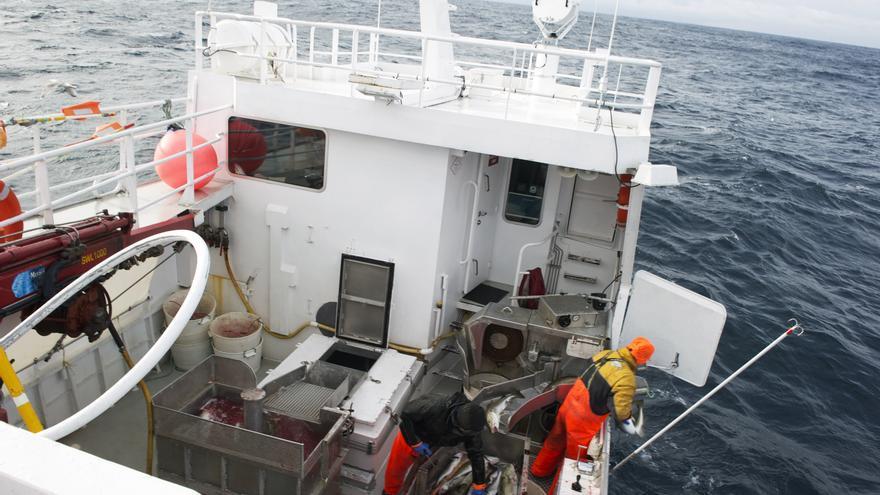 Pescadores en el Mar de Noruega