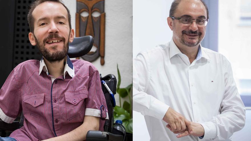 Pablo Echenique y Javier Lambán. Fotos: Juan Manzanara