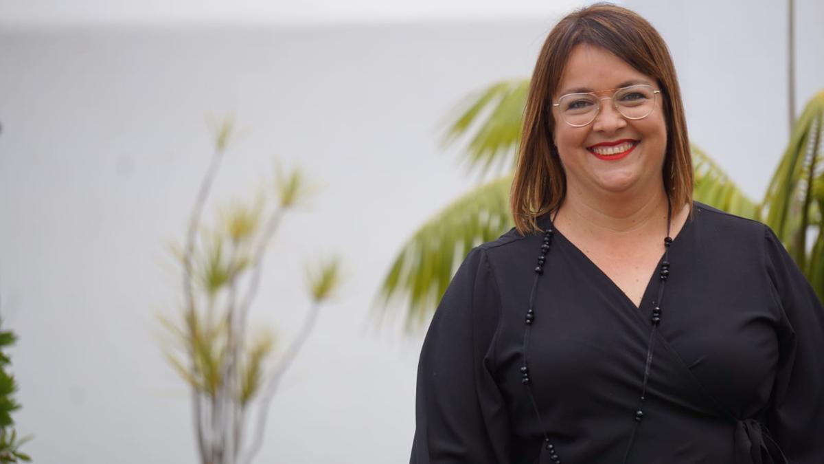 Mayte Rodríguez,  portavoz del PP en el Ayuntamiento de Breña Alta.