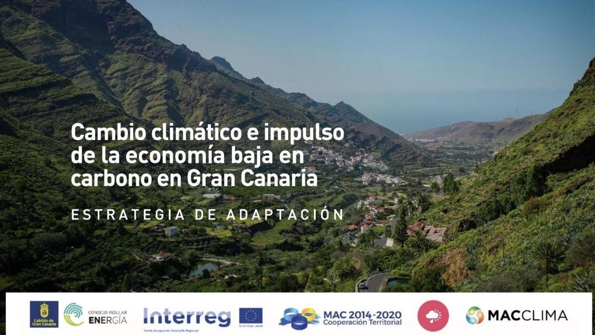 Portada del proyecto 'Cambio climático e impulso de la economía baja en carbono en Gran Canaria'