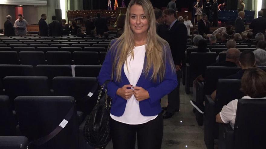 Teresa Berástegui, en el acto de apertura del nuevo curso de la ULL