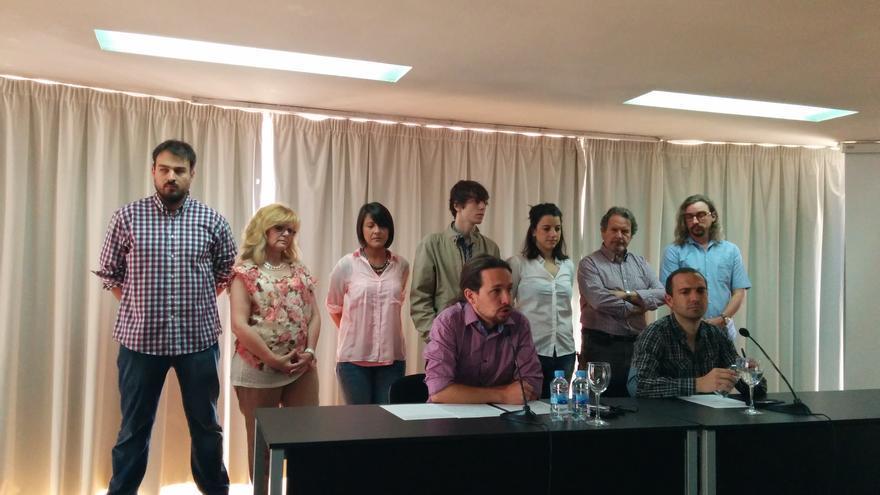 Pablo Iglesias y Luis Alegre, en una rueda de prensa. / A.R.
