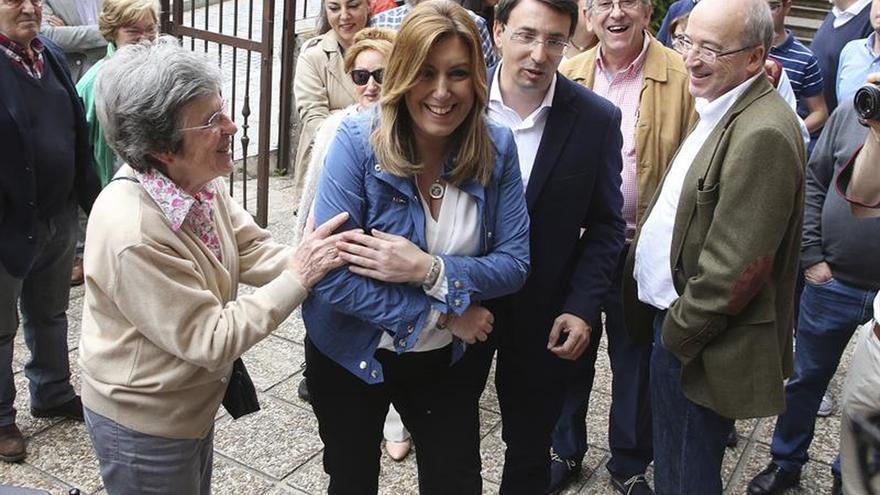 La presidenta andaluza, Susana Díaz, en un acto en Salamanca.