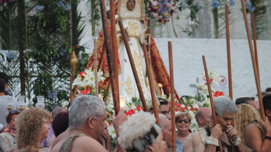 Celebración de la Candelaria y los guanches del Paredón, en Icod de los Vinos