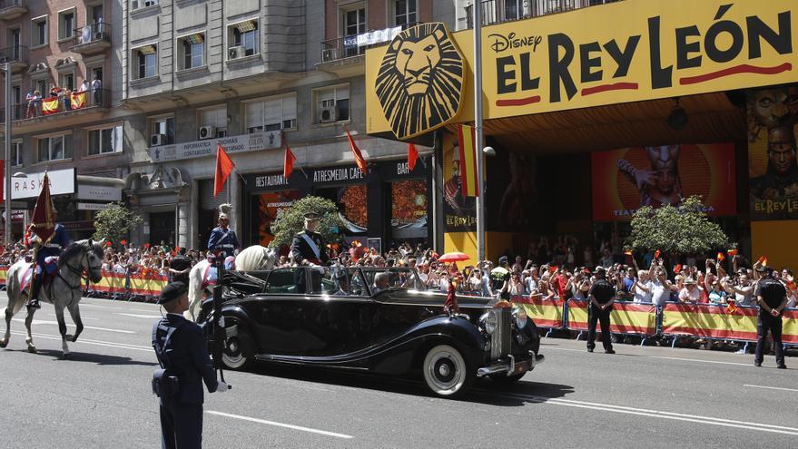 Felipe VI a su paso por Gran Vía 60 / Olmo Calvo