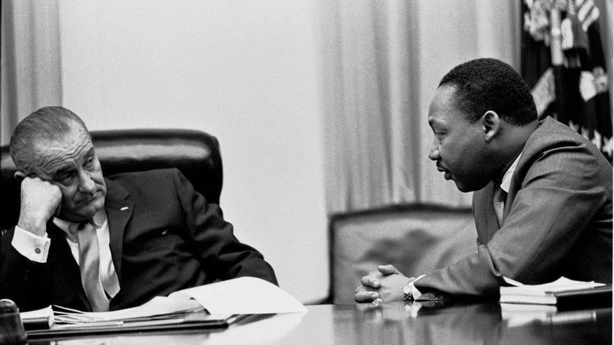 Lyndon B. Johson y Martin Luther King
