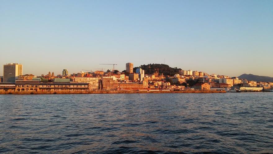 Vista parcial de Vigo desde la ría