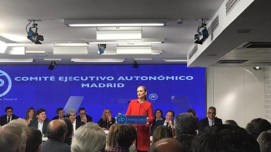 """Lezo- Cifuentes pide que no se construya """"un relato paralelo"""": """"Ha sido el PP el que ha buscado la ayuda de la Justicia"""""""
