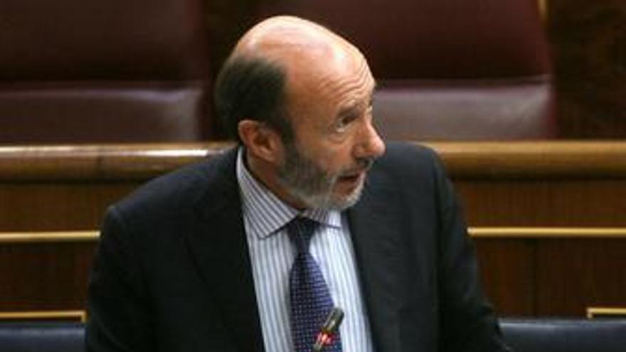 Pérez Rubalcaba, en el congreso de los diputados