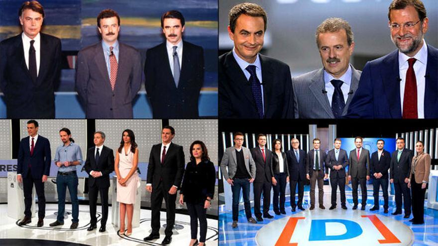 Algunos de los debates electorales celebrados en la televisión