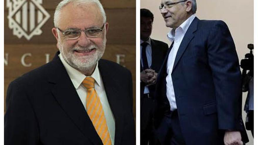 El expresidente de las Corts Juan Cotino y el diputado autonómico Miquel Domínguez