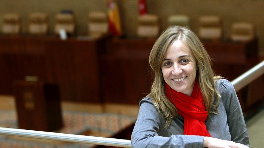 Tania Sánchez, en la Asamblea de Madrid. / Marta Jara