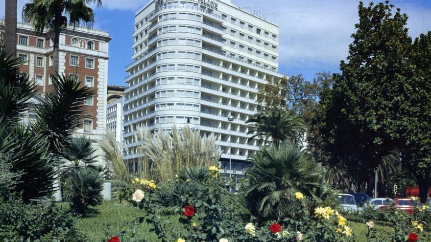 Fotografía histórica del hotel Málaga Palacio.