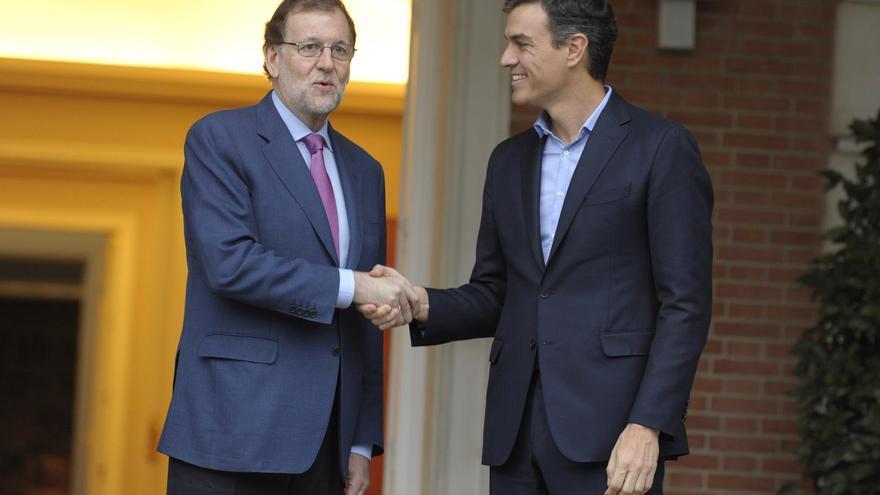 Mariano Rajoy y Pedro Sánchez en un encuentro en la Moncloa.