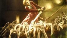 Fotograma coloreado a mano de la película 'Metrópolis'.