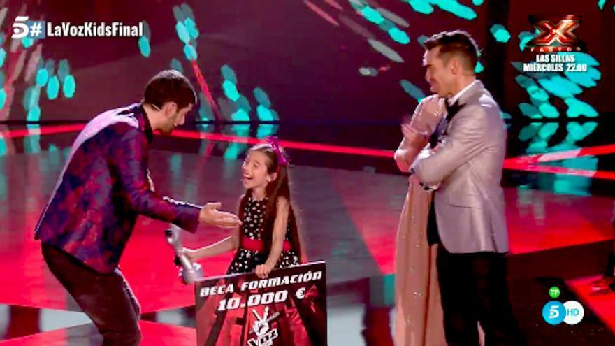 La lírica de Melani gana La Voz Kids 4 y Melendi se corona en su debut