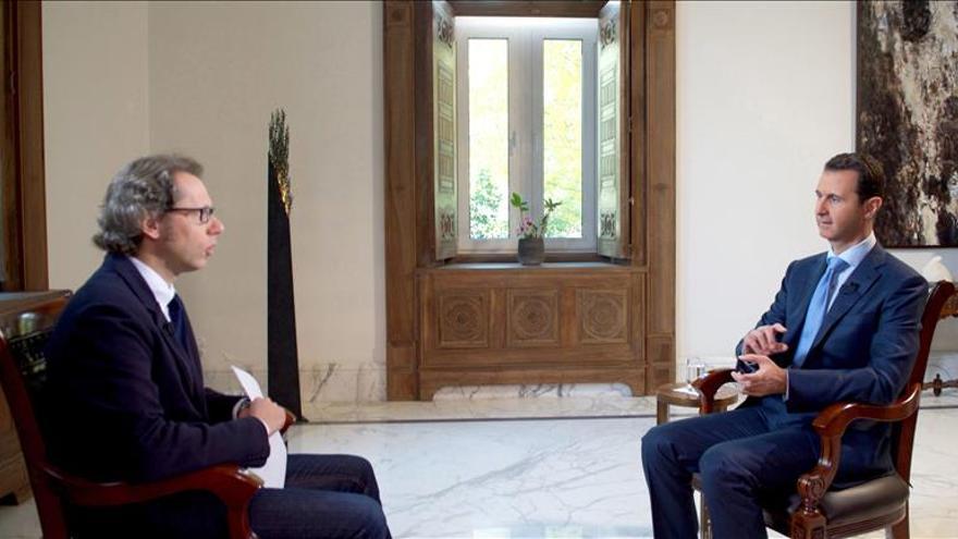 Al Asad dice que el EI no se incuba en Siria y que nació tras guerra en Irak