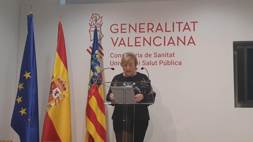 La consellera de Sanidad, Ana Barceló, durante la rueda de prensa diaria por el coronavirus.