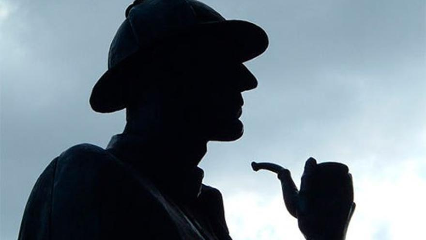 Estatua de Sherlock Holmes en Baker Street. (DP).
