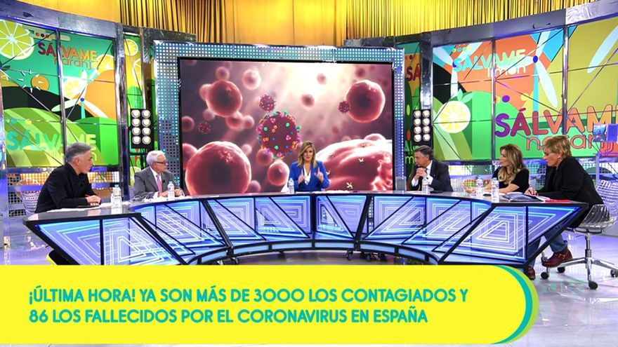 Plató de 'Sálvame', dedicado al coronavirus