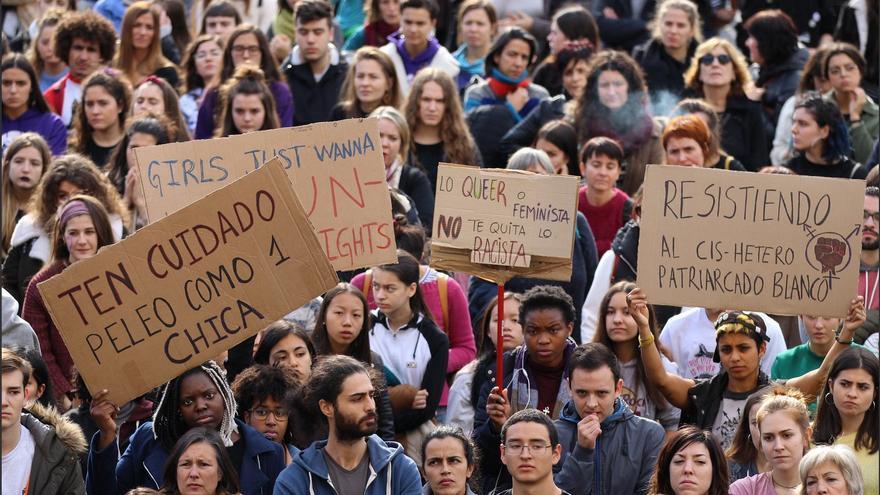 Manifestación en Bilbao por el 25 N. Foto: Ecuador Etxea