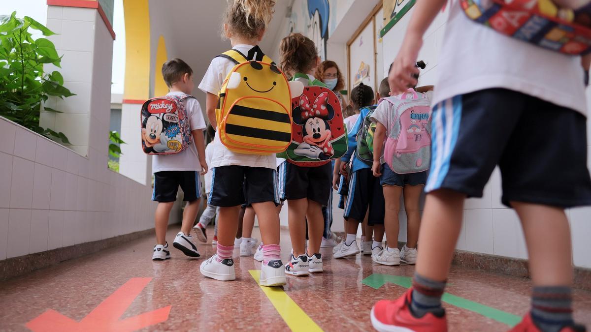 Las aulas en el modelo 3, de enseñanza telemática, representan el 0,29% del total.EFE/Ángel Medina G./Archivo