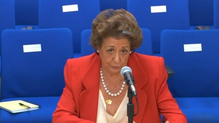 Imagen de la comparecencia de Rita Barberá como testigo en el caso Nóos